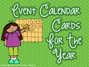 A Year of Events Calendar Cards