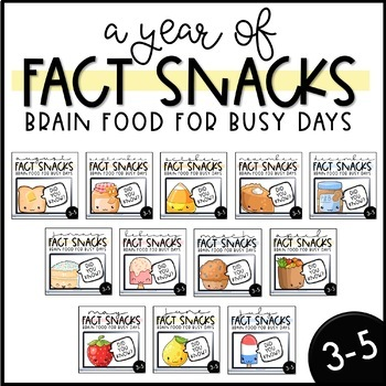 A Year of Fact Snacks - A Brain-Boosting Snack Time Routine (3-5) Growing Bundle
