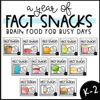 A Year of Fact Snacks - A Brain-Boosting Snack Time Routine (K-2) Growing Bundle