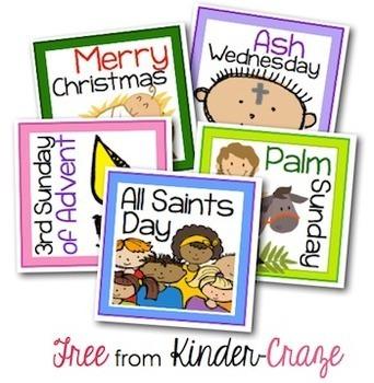 A Year of Faith Calendar Reminder Cards