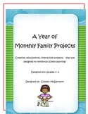 A Year of Family Monthly Projects