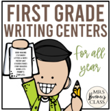 A Year of First Grade Writing Centers
