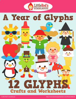 A Year of Glyphs Bundle Crafts and Worksheets