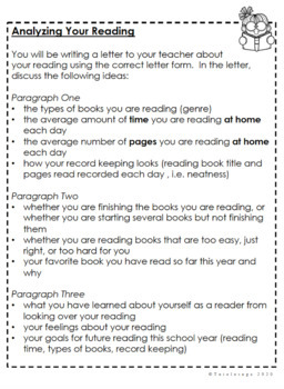 Book Projects and Book Reports for Independent Reading Editable - 1 Year