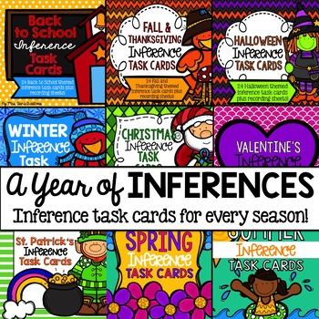 A Year of Inferences: Inference Task Cards for Every Season Bundle