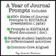 Journal Writing Prompts Bundle Editable