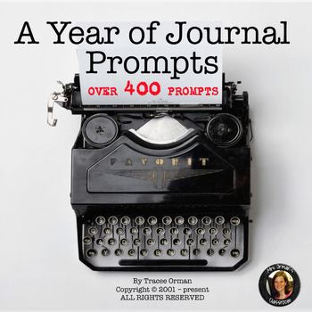 Journal Writing Prompts Bell Ringers Bundle Editable
