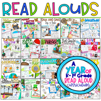 A Year of K-1 Interactive Read-Aloud Lesson Plans Curriculum Bundle