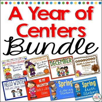 A Year of Kindergarten Centers Bundle
