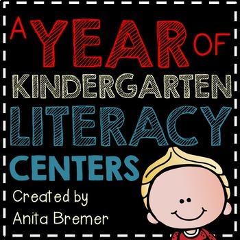 A Year of Kindergarten Literacy Centers Bundle