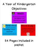 A Year of Kindergarten Objectives