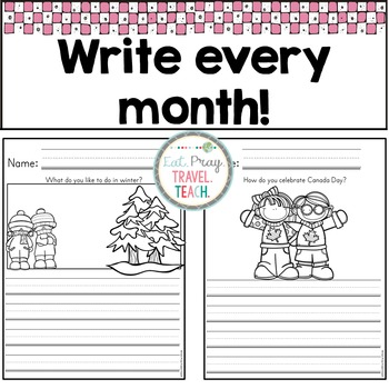 A Year of Kindergarten Writing Prompts
