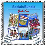 A Year of Grade 4 Social Studies Lapbooks Bundle