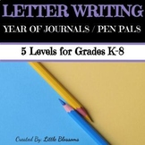 Pen Pal Writing Prompts Differentiated