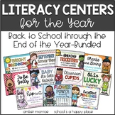 A Year of Literacy Centers {Back to School Through the End of the Year-Bundled}