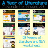 A Year of Literature for 3rd-5th Grade