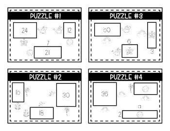 A Year of Logic Puzzles- Area, Perimeter and Multiplication {A Growing Bundle}