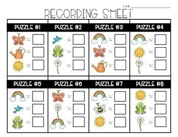 A Year of Math Logic Puzzles- Double Digit Addition & Subtraction Growing Bundle