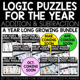 A Year of Math Logic Puzzles- Addition & Subtraction {Grow