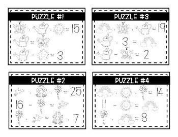 A Year of Math Logic Puzzles- Addition & Subtraction {Growing Bundle}