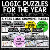 Math Logic Puzzles Bundle- Addition & Subtraction