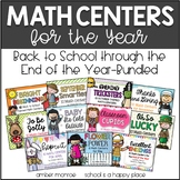 A Year of Math Centers {Back to School Through the End of