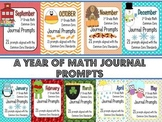 A Year of Math Journal Prompts - Common Core Aligned