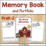 Yearlong Memory Book and Portfolio for Preschool, Pre-K, Kindergarten, 1st & 2nd
