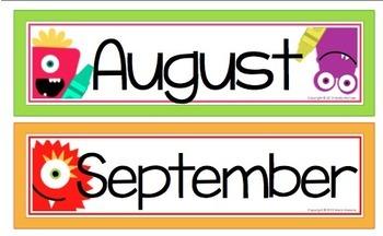 A Year of Monsters Calendar Headers