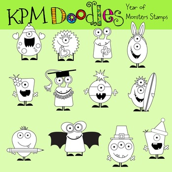 KPM A Year of Monsters Stamps