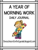 A Year of Morning Journals: First Grade 2021-2022 School Year