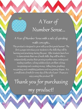 A Year of Number Sense