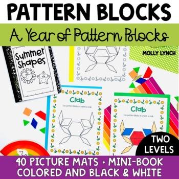 A Year of Pattern Block Mats + Mini Books