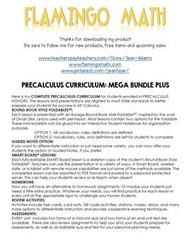 PreCalculus: A Year of Curriculum