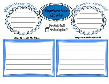 Reading & Math Goals
