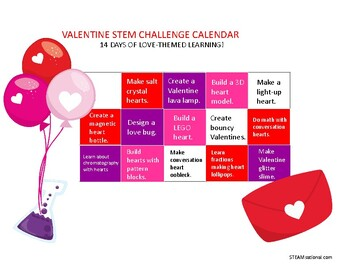 A Year of STEM Challenge Calendars