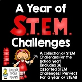A Year of STEM Challenges - Set of 36 STEM Engineering Challenges