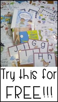 FREE sample of Preschool Curriculum (preview of scripted lessons & activities)