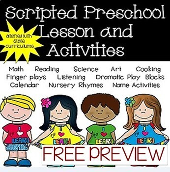 FREE sample of Preschool Curriculum (lessons & activities)