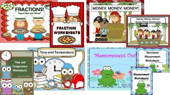 A  Year of Second Grade Math SmartBoard Units and Corresponding Worksheets