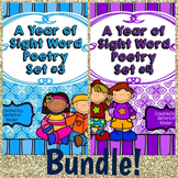A Year of Sight Word Poetry Bundle: Sets 3 & 4 **now with