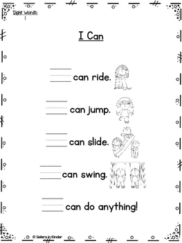 A Year of Sight Word Poetry: Set #1 ***Now with even MORE ways to practice!