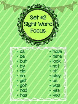 A Year of Sight Word Poetry: Set #2 ***Now with even MORE ways to practice!