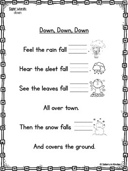 A Year of Sight Word Poetry: Set #3 ***Now with even MORE ways to practice!