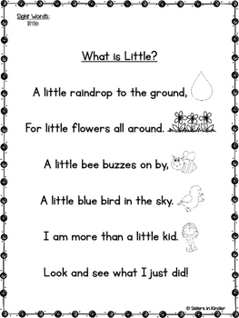 A Year of Sight Word Poetry: Set #4  ***Now with even MORE ways to practice!