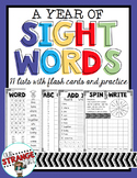 A Year of: Sight Word Practice (Aligned with Saxon Phonics)
