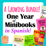 A Year of Spanish Minibooks: Bilingual and Spanish Curriculum Supplement