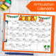 Speech and Language Homework Calendars {BUNDLE}