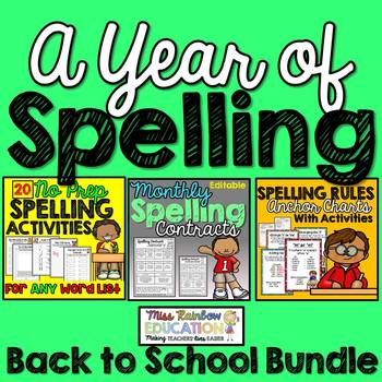 A Year of Spelling (Back to School Bundle)