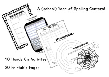 A Year of Spelling Centers